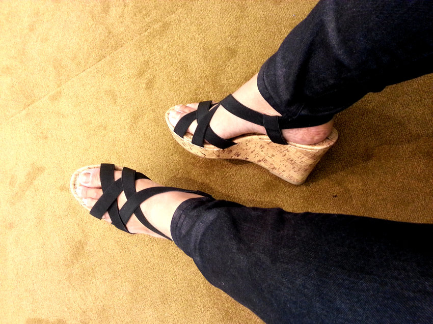 Every girl needs and deserves a good pair of comfortable wedges!