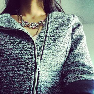 Trying out #clozette - instagram synch. #h&m #tweed #jacket #fall #look