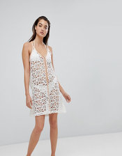Pitusa Crochet Beach Mini Sundress