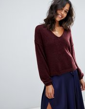 Free People Princess v-neck sweater-Red