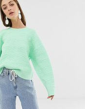 ASOS WHITE textured knitted sweater