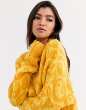 Free People Yin Yang oversized sweater-Yellow